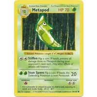 Metapod 54/102 Base Set Shadowless Common Pokemon Card NEAR MINT TCG