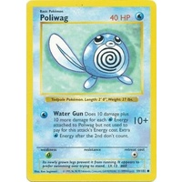 Poliwag 59/102 Base Set Shadowless Common Pokemon Card NEAR MINT TCG