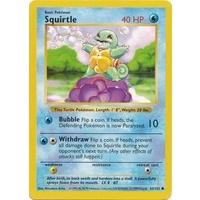 Squirtle 63/102 Base Set Shadowless Common Pokemon Card NEAR MINT TCG