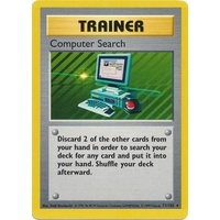 Computer Search 71/102 Base Set Shadowless Rare Trainer Pokemon Card NEAR MINT TCG