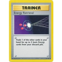 Energy Retrieval 81/102 Base Set Shadowless Uncommon Trainer Pokemon Card NEAR MINT TCG