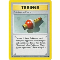 Pokemon Flute 86/102 Base Set Shadowless Uncommon Trainer Pokemon Card NEAR MINT TCG