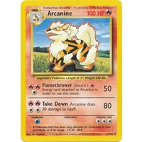 Arcanine 23/102 Base Set Unlimited Uncommon Pokemon Card NEAR MINT TCG