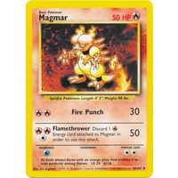 Magmar 36/102 Base Set Unlimited Uncommon Pokemon Card NEAR MINT TCG