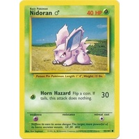 Nidoran 55/102 Base Set Unlimited Common Pokemon Card NEAR MINT TCG