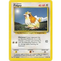 Pidgey 57/102 Base Set Unlimited Common Pokemon Card NEAR MINT TCG