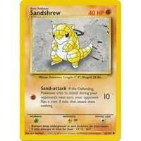 Sandshrew 62/102 Base Set Unlimited Common Pokemon Card NEAR MINT TCG