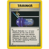 Defender 80/102 Base Set Unlimited Uncommon Trainer Pokemon Card NEAR MINT TCG