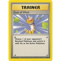Gust of Wind 93/102 Base Set Unlimited Common Trainer Pokemon Card NEAR MINT TCG