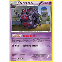 Whirlipede 73/149 BW Boundaries Crossed Uncommon Pokemon Card NEAR MINT TCG