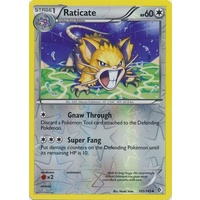 Raticate 105/149 BW Boundaries Crossed Reverse Holo Uncommon Pokemon Card NEAR MINT TCG