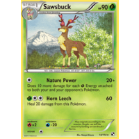 Sawsbuck 14/114 BW Base Set Rare Pokemon Card NEAR MINT TCG
