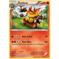 Emboar 19/114 BW Base Set Holo Rare Pokemon Card NEAR MINT TCG