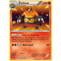 Emboar 20/114 BW Base Set Holo Rare Pokemon Card NEAR MINT TCG