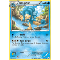 Simipour 34/114 BW Base Set Uncommon Pokemon Card NEAR MINT TCG