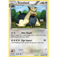 Stoutland 83/114 BW Base Set Rare Pokemon Card NEAR MINT TCG