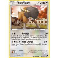 Bouffalant 91/114 BW Base Set Rare Pokemon Card NEAR MINT TCG