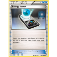 Energy Search 93/114 BW Base Set Common Trainer Pokemon Card NEAR MINT TCG