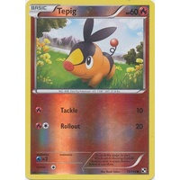 Tepig 15/114 BW Base Set Reverse Holo Common Pokemon Card NEAR MINT TCG