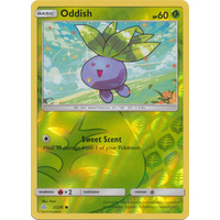 Oddish 2/236 SM Cosmic Eclipse Reverse Holo Common Pokemon Card NEAR MINT TCG
