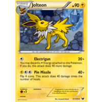 Jolteon 37/108 BW Dark Explorers Uncommon Pokemon Card NEAR MINT TCG