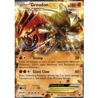 Groudon EX 54/108 BW Dark Explorers Holo Ultra Rare Pokemon Card NEAR MINT TCG