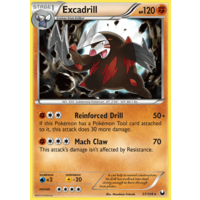 Excadrill 57/108 BW Dark Explorers Rare Pokemon Card NEAR MINT TCG