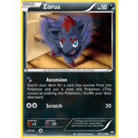Zorua 69/108 BW Dark Explorers Common Pokemon Card NEAR MINT TCG