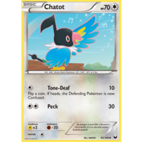 Chatot 85/108 BW Dark Explorers Uncommon Pokemon Card NEAR MINT TCG