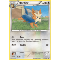 Herdier 87/108 BW Dark Explorers Uncommon Pokemon Card NEAR MINT TCG
