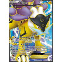 Raikou EX 105/108 BW Dark Explorers Holo Ultra Rare Full Art Pokemon Card NEAR MINT TCG