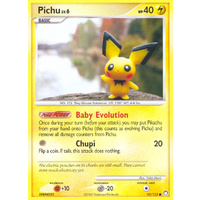 Pichu 93/123 DP Mysterious Treasures Common Pokemon Card NEAR MINT TCG