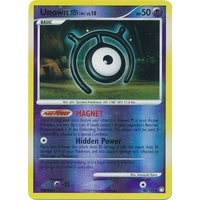 Unown M 66/123 DP Mysterious Treasures Reverse Holo Uncommon Pokemon Card NEAR MINT TCG