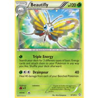 Beautifly 8/124 BW Dragons Exalted Rare Pokemon Card NEAR MINT TCG