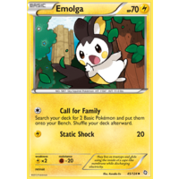 Emolga 45/124 BW Dragons Exalted Uncommon Pokemon Card NEAR MINT TCG