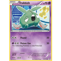 Trubbish 53/124 BW Dragons Exalted Common Pokemon Card NEAR MINT TCG