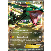 Rayquaza EX 85/124 BW Dragons Exalted Holo Ultra Rare Pokemon Card NEAR MINT TCG