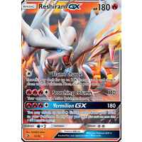 Reshiram GX 11/70 SM Dragon Majesty Holo Ultra Rare Pokemon Card NEAR MINT TCG