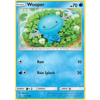 Wooper 25/70 SM Dragon Majesty Common Pokemon Card NEAR MINT TCG