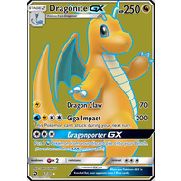 Dragonite GX 67/70 SM Dragon Majesty Holo Ultra Rare Full Art Pokemon Card NEAR MINT TCG