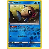 Feebas 28/70 SM Dragon Majesty Reverse Holo Common Pokemon Card NEAR MINT TCG