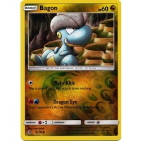 Bagon 42/70 SM Dragon Majesty Reverse Holo Common Pokemon Card NEAR MINT TCG
