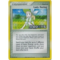 Lady Outing 87/107 EX Deoxys Reverse Holo Uncommon Trainer Pokemon Card NEAR MINT TCG