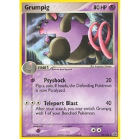 Grumpig 29/106 EX Emerald Uncommon Pokemon Card NEAR MINT TCG