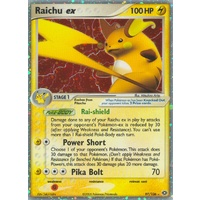 Raichu ex 97/106 EX Emerald Holo Ultra Rare Pokemon Card NEAR MINT TCG