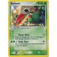 Breloom 22/106 EX Emerald Reverse Holo Uncommon Pokemon Card NEAR MINT TCG