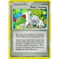 Wally's Training 85/106 EX Emerald Reverse Holo Uncommon Trainer Pokemon Card NEAR MINT TCG