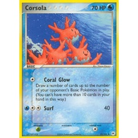 Corsola 32/101 EX Hidden Legends Uncommon Pokemon Card NEAR MINT TCG