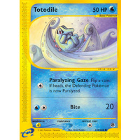 Totodile 135/165 E-Series Expedition Common Pokemon Card NEAR MINT TCG