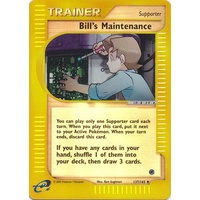 Bill's Maintainence 137/165 E-Series Expedition Reverse Holo Uncommon Trainer Pokemon Card NEAR MINT TCG